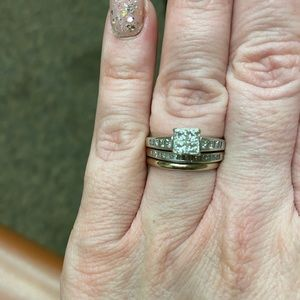 Kay jewlers diamond quad wedding set size 7